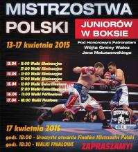 Pierwsze wyniki walk na MPJ w boksie 2015 w Wałczu