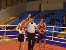 OGÓLNOPOLSKA OLIMPIADA MŁODZIEŻY W BOKSIE GRUDZIĄDZ 2015 – Borys Porębski zwycięża w pierwszej walce