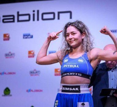 Walka Klaudii Simsak na gali Babilon Promotion dziś w Polsat Sport Extra oraz Polsat Super
